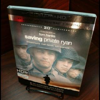 Saving Private Ryan 4KUHD – Vudu/iTunes/Fandango Digital Code Only