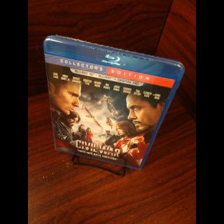 Marvel's Captain America Civil War HD Digital Code – Movies Anywhere/Vudu (Full Code - Disney reward points redeemed)