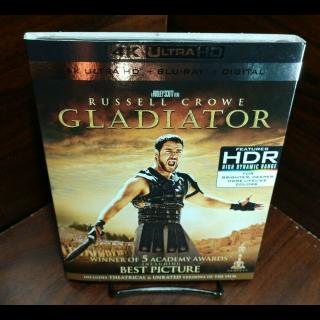Gladiator 4KUHD – Vudu Digital Code Only