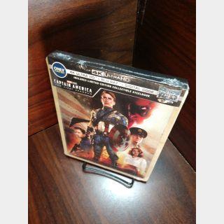 Marvel's Captain America First Avenger 4K Digital Code – Movies Anywhere (Full Code - Disney reward points redeemed)