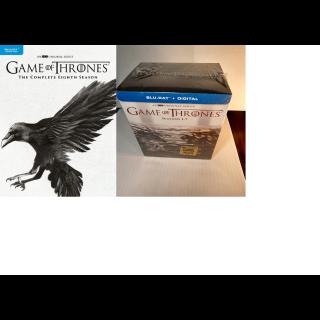 Game of Thrones - All 8 Seasons (HD) Vudu Digital Code Only