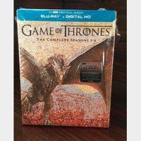 Game of Thrones - 6 Seasons (HD) iTunes Digital Code Only - Redeems on iTunes