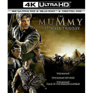 Mummy Trilogy 4KUHD Digital Code Only – MoviesAnywhere Only