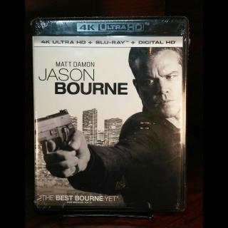 Jason Bourne  4KUHD iTunes Digital Code Only – Redeems on iTunes