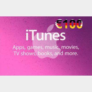 €100.00 iTunes Germany
