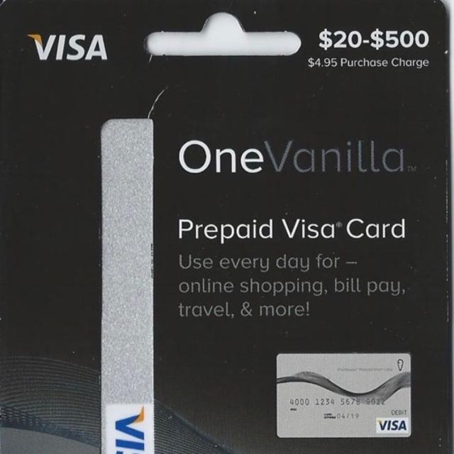 Prepaid Visa Card >> 50 00 Onevanilla Prepaid Visa Gift Card Other Gift Cards Gameflip