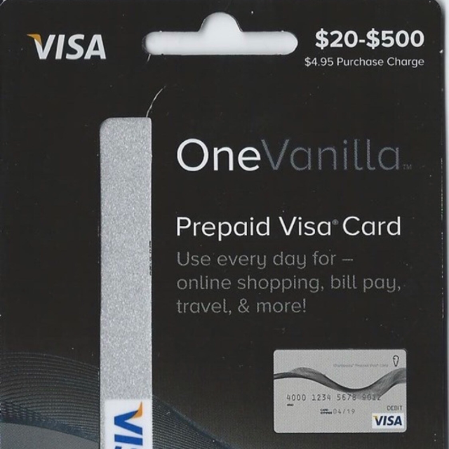 2500 onevanilla prepaid visa gift card - How To Get A Prepaid Visa Card