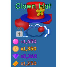 Pet Bgs Clown Hat In Game Items Gameflip
