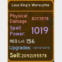 Weapon | Lava King's Warscythe