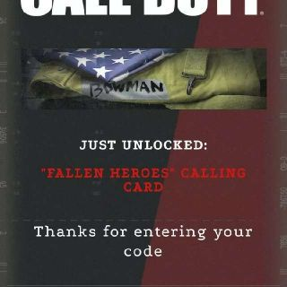 Call of Duty: Black Ops Cold War Fallen Heroes Calling Card