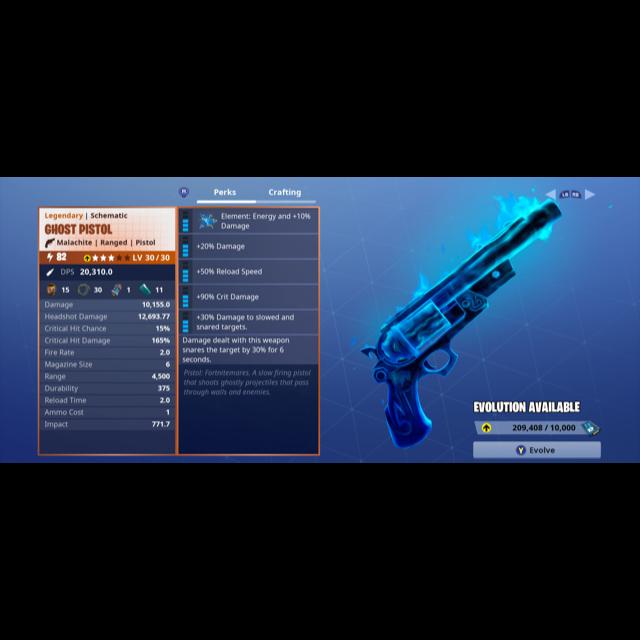 ghost pistol fortnite