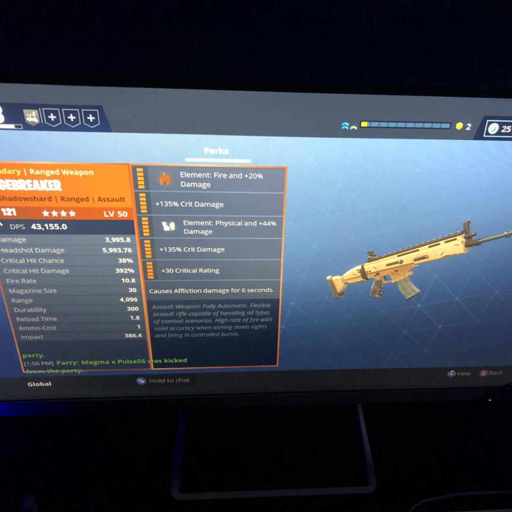 bundle 121 siegebreaker double element - fortnite tigerjaw perks