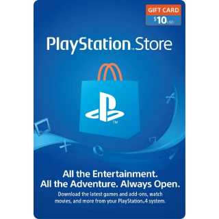 $10.00 PlayStation Store [DIGITAL CODE]