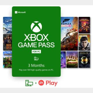 Xbox Game Pass for PC 3 months TRIAL