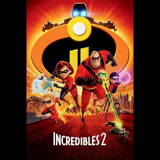 Incredibles 2 iTunes Digital Code HD