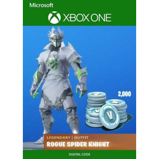 Fortnite Rogue Spider + 2000 VBUCKS XBOX ONE KEY
