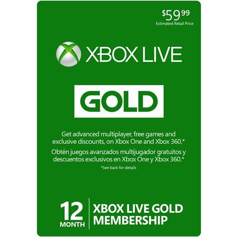 Xbox 12 Month Gold Membership Usa Instant Digital Code Xbox Gift