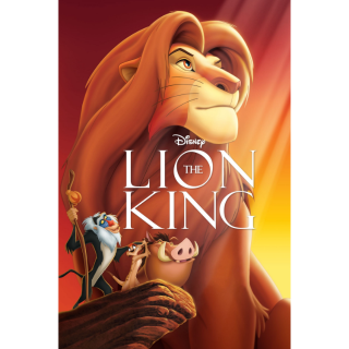 [Instant] The Lion King (MA/iTunes/VUDU/Prime Video/Google Play)