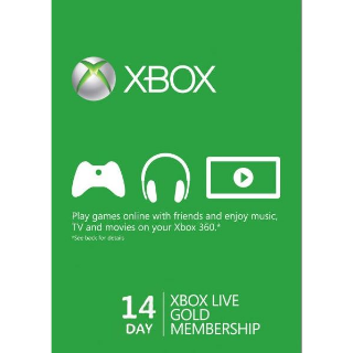Xbox Live Gold 14 Days Global code instant delivery