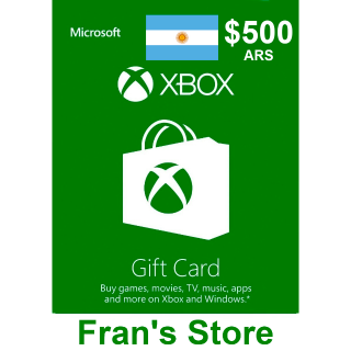 $500 ARS Xbox Gift Card - Argentina