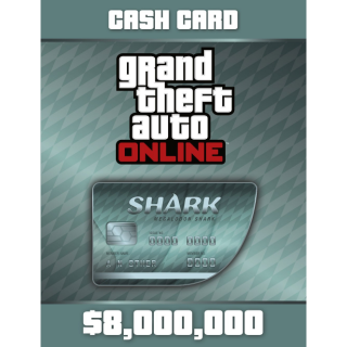 Grand Theft Auto Online: Megalodon Shark Cash Card XBOX ONE GLOBAL 8 000 000 USD Key [GTA V][GTA 5]