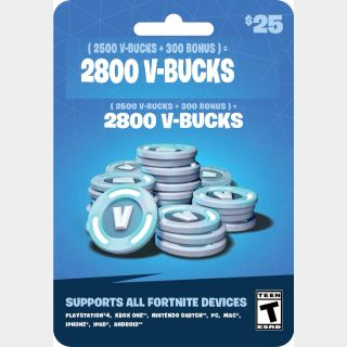 $19.99/$25.00 Fortnite Gift Card 2800 V-bucks ✔️ GLOBAL EPIC ✔️ Auto Delivery ✔️