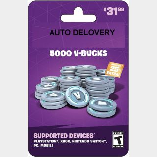 $40.00/32.00 ⭐  Fortnite Gift Card 5000 V-bucks - AUTO Delivery !! OFFER 🔥 GLOBAL EPIC 🔥
