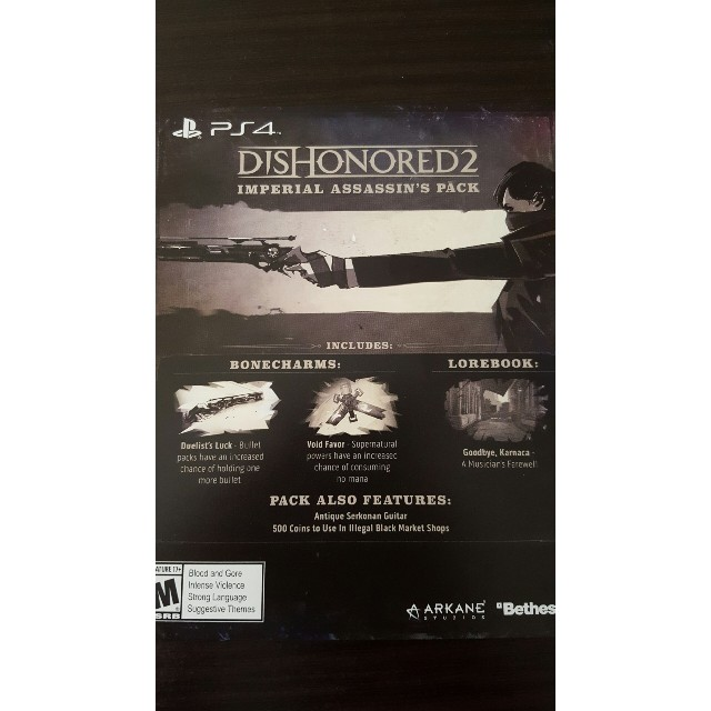 Dishonored 2 Imperial Assasin's Pack DLC PS4 - PS4 Games
