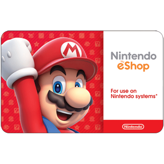 $50.00 Nintendo eShop Gift Card (USA) - Great discount! ( Custom Value Gift Card available also )