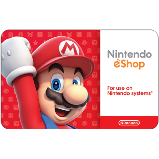 $50 Nintendo eShop Gift Card (USA) - Great discount! ( Custom Value Gift Card available also )