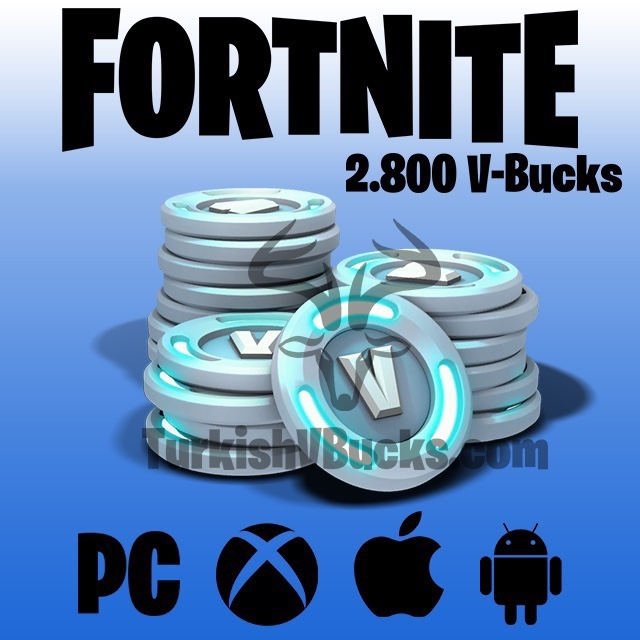 Fortnite 2500 + 300 V-Bucks