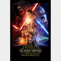 Star Wars: The Force Awakens - 4K Canadian or US iTunes Code - Ports through Movies Anywhere