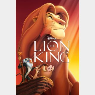 The Lion King (1994 animated) - US iTunes 4K code - Ports through Movies Anywhere