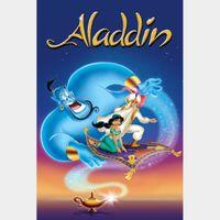 Aladdin (1992, Animated) - 4K iTunes Code - Ports through Movies Anywhere