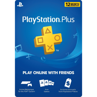 1 Year/12 months PlayStation Plus (USA) INSTANT DELIVERY