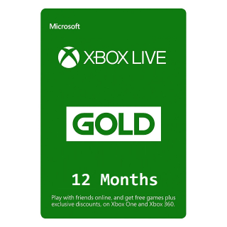 Xbox Live Gold 12 months INSTANT DELIVERY (Xbox One + Xbox 360) Worldwide