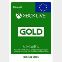 Xbox Live Gold 6 months (Europe) INSTANT DELIVERY