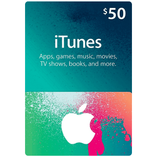 $50 iTunes Gift Card (USA) INSTANT DELIVERY