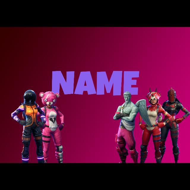 Fortnite Background Own Chosen Font Other Gameflip