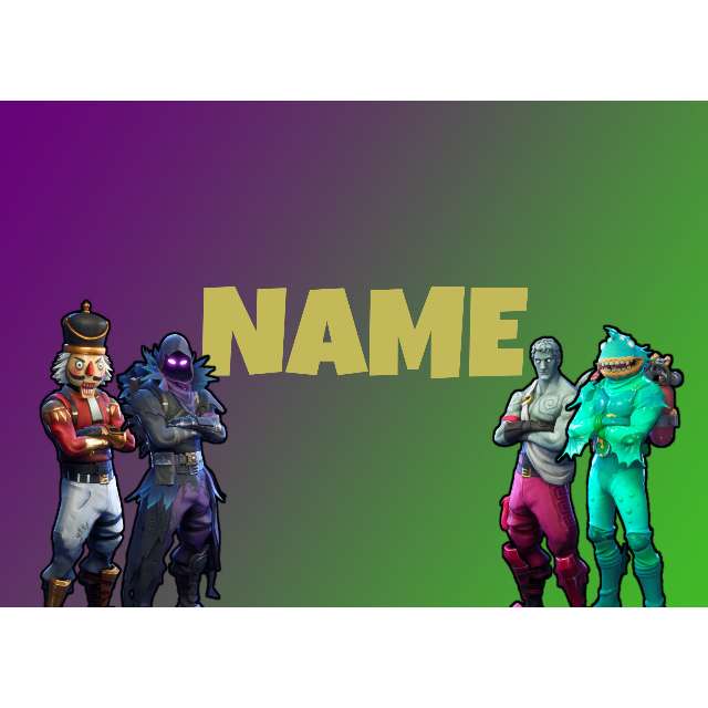 Limited Time Fortnite Background with own chosen font