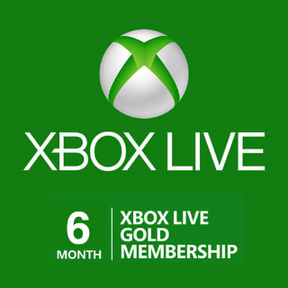 Xbox Live Gold 6 Month Subscription