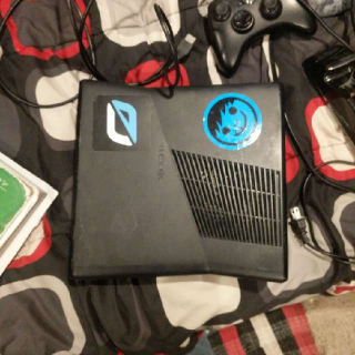 Xbox 360 With Controllers And Cords