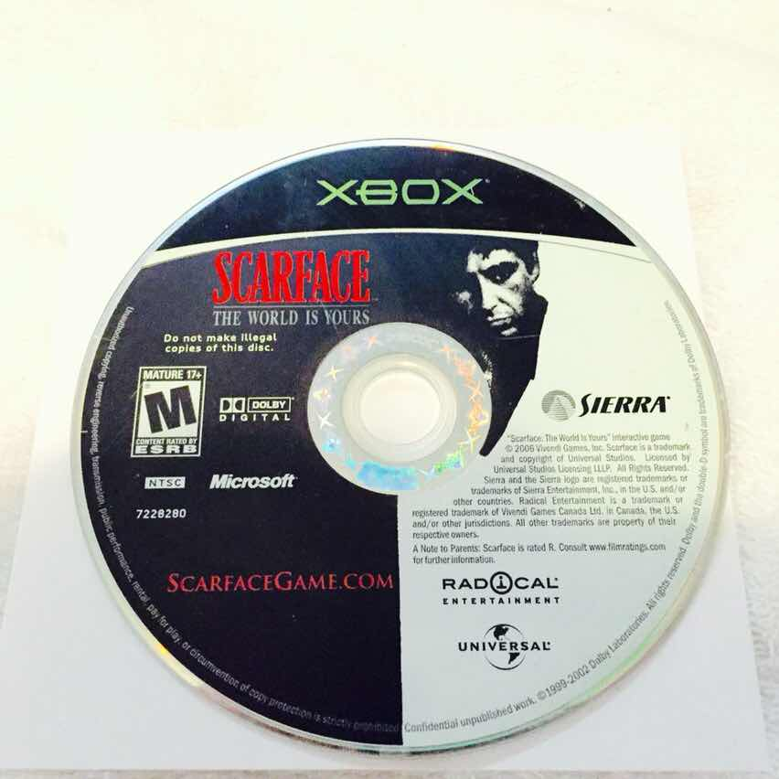 Scarface for Original Xbox - XBox Games (Good) - Gameflip