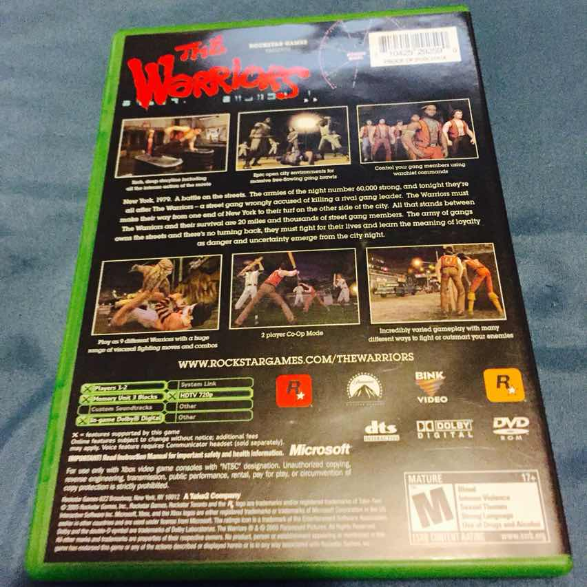 Original Xbox Game Ship : The warriors for original xbox games like new