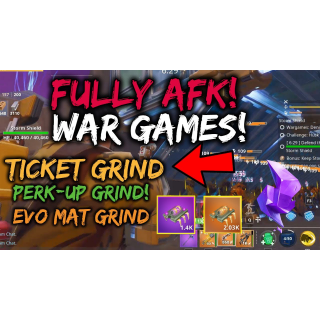 I will do 1k+ summer tickets for you in AFK War Games x10 TWINE PEAKS PL 121