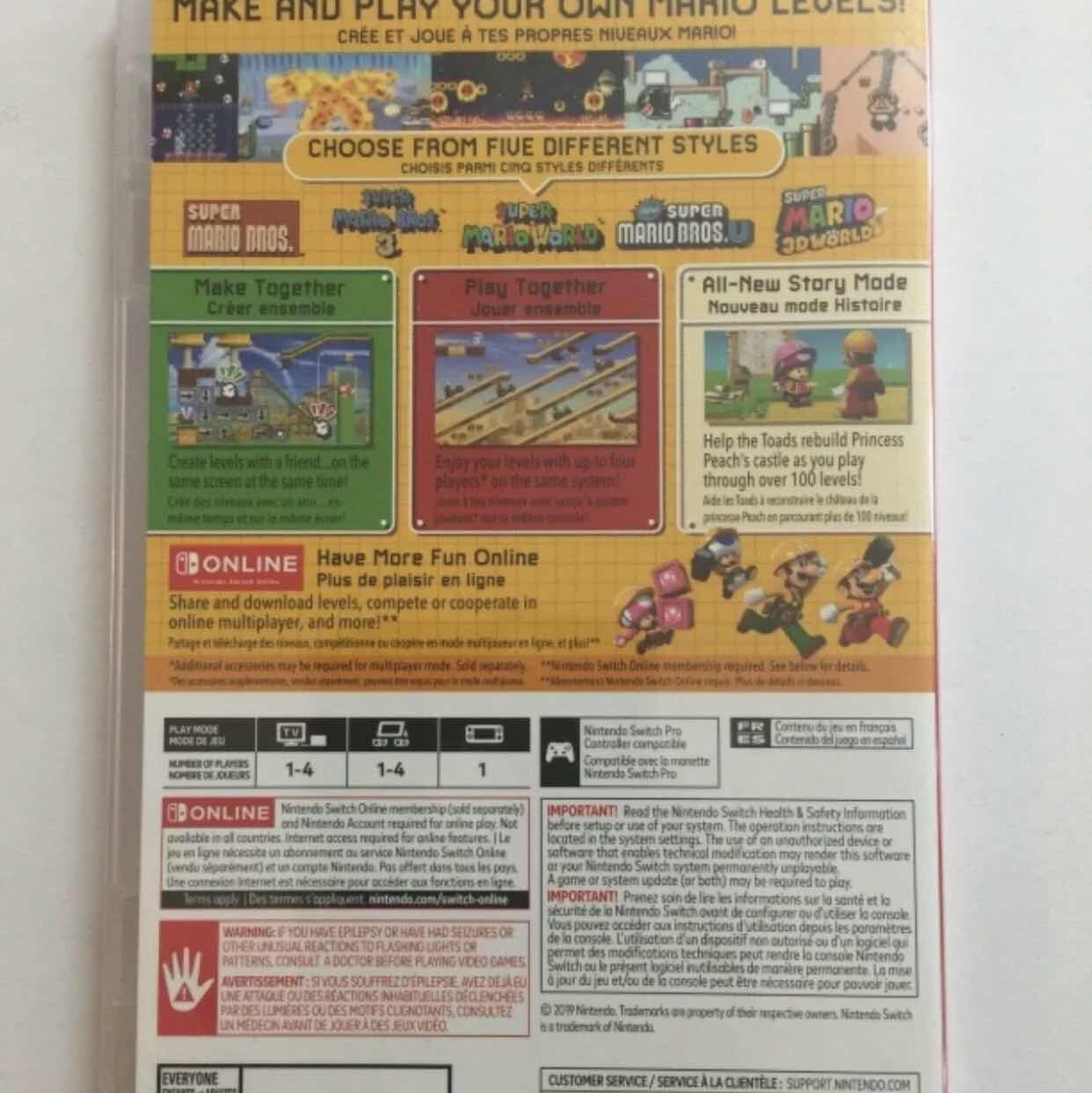 Super Mario maker 2 (Game only)
