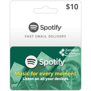 $10 Spotify US Region GIft Card - (Delivery Within 24 Hours)