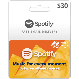 $30 Spotify US Region GIft Card - (Delivery Within 24 Hours)