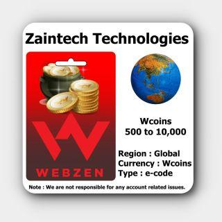 1,000 Wcoins - Webzen - Global - (Delivery in 24 Hours)