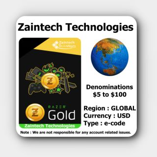 $10 Razer Gold GLOBAL - (Instant Delivery)
